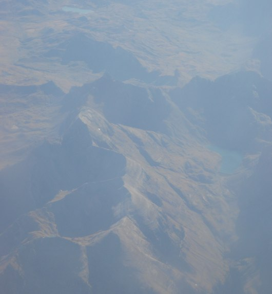 pyrenees from plane