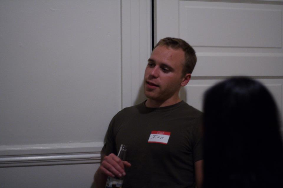 ian gunn at 3656a's housewarming party