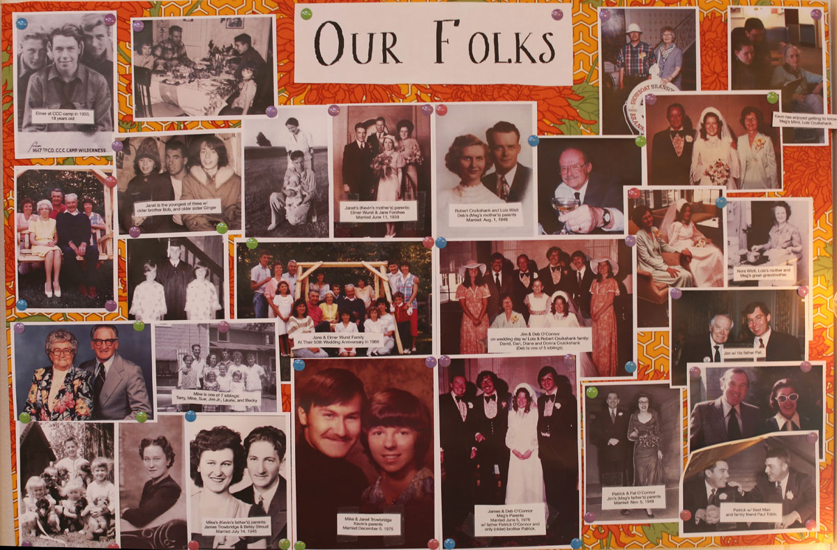 'Photoboard showing pictures of our family.'