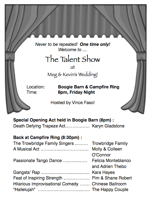 'Program from our talent show.'